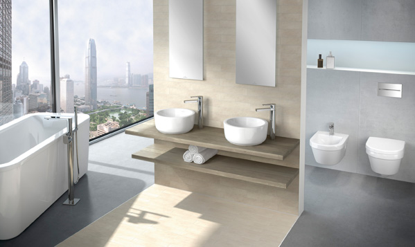 Holistic interior planning bathroom wall design by for Salle de bain duravit