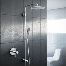 facelift f r die dusche moderne duschsysteme von kwc im handumdrehen pop up my bathroom. Black Bedroom Furniture Sets. Home Design Ideas