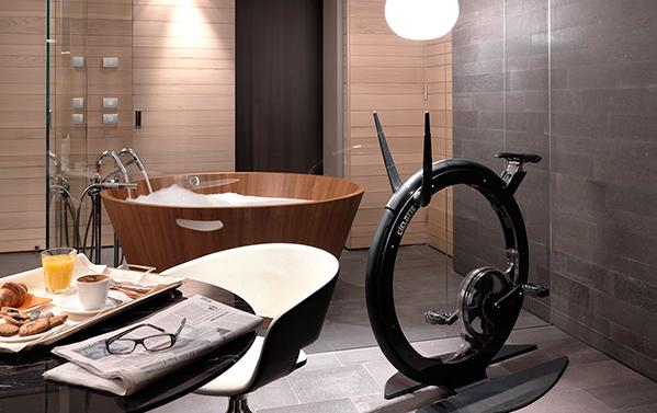 Badezimmer mit Sofa . Pop up my Bathroom