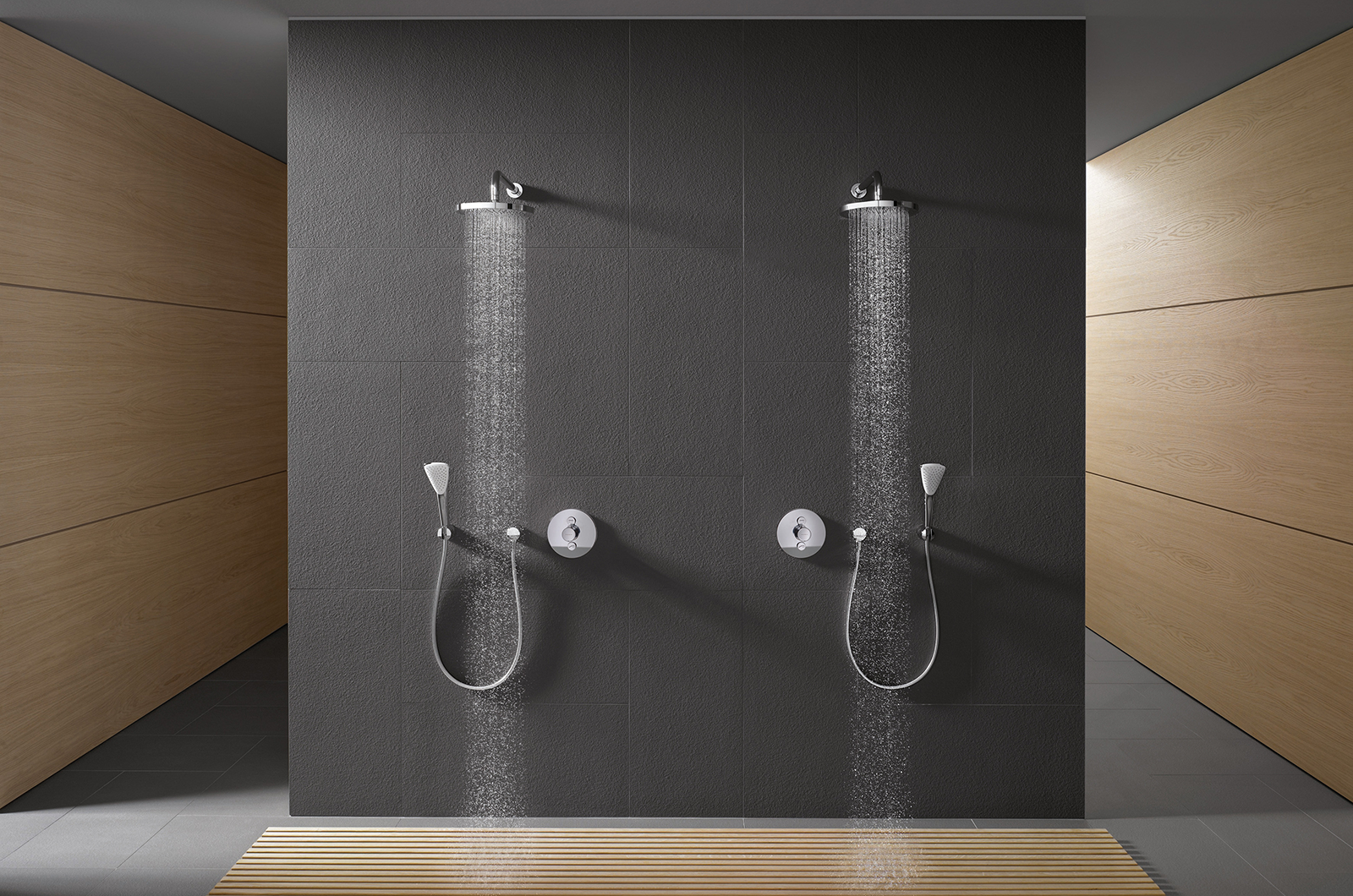 Kludi Push Operation Of Shower And Bathtub At The Push Of A Button