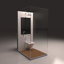 Badezimmer in einer box eine australische sanit rl sung for Innenarchitektur pro quadratmeter