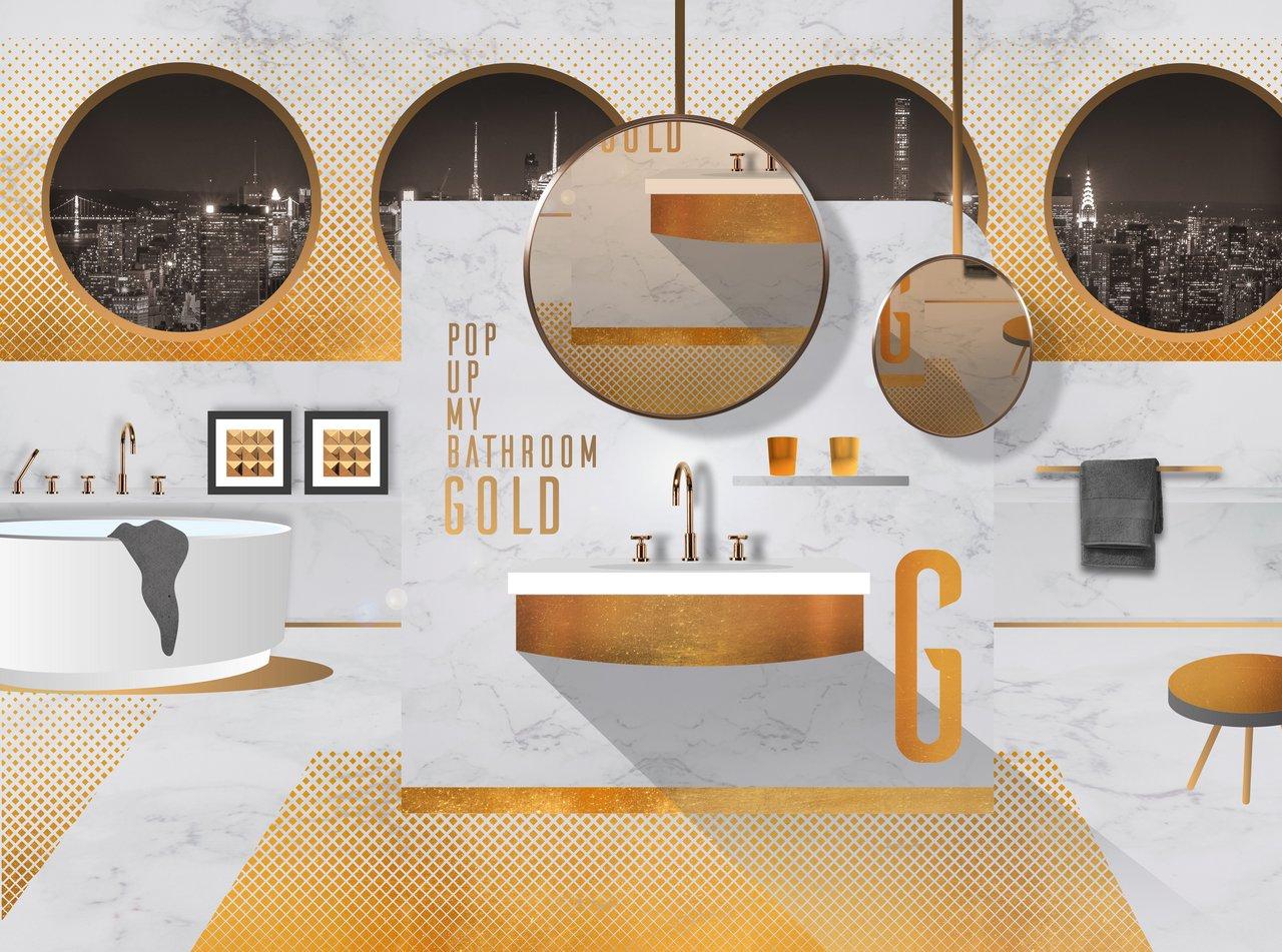 Ein Hauch Von Luxus Gold Setzt Optische Glanzlichter Im Bad Gold Setzt Optische Glanzlichter Im Bad Pop Up My Bathroom