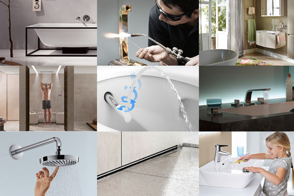 Photo: Bette, Hansgrohe, Dornbracht, Viega, burgbad, Axor